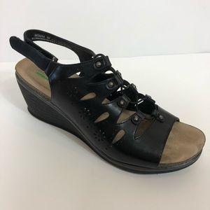 BareTraps | Natasha Black Sandals with Memory Foam